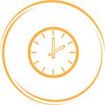 clock. Internet button. Vector icon.